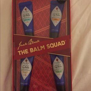 "Jack Black Other - Jack Black set of 4 lip balms - ""balm squad"""